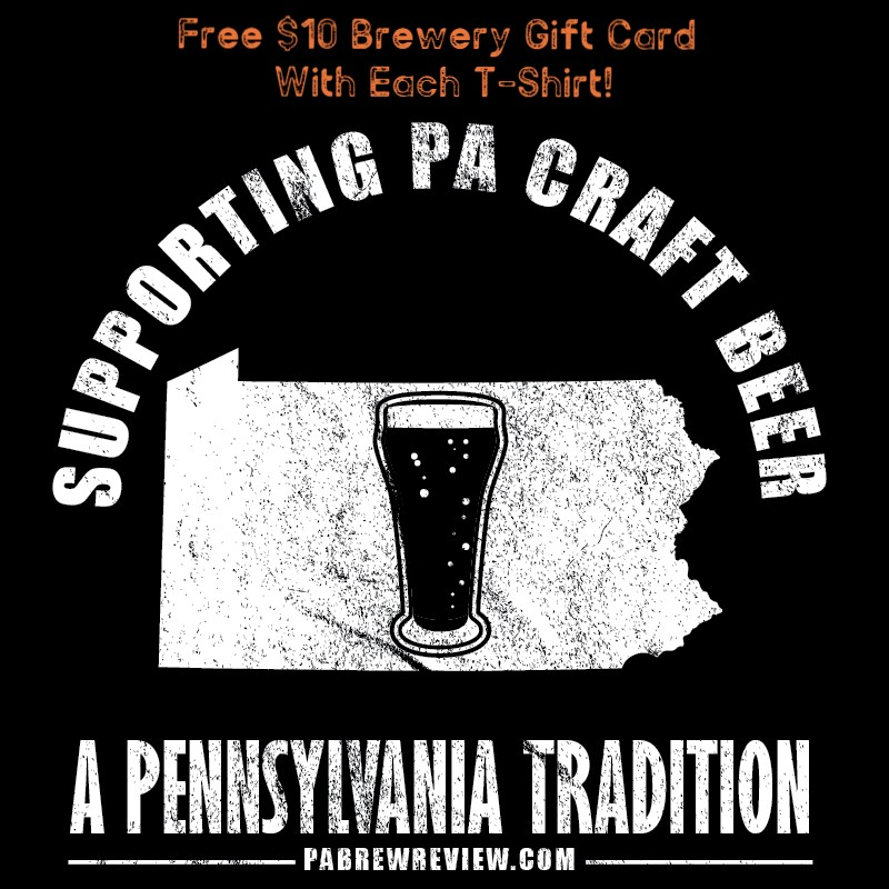 Get A Free $10 Brewery Gift Card With Every T Shirt Purchased!